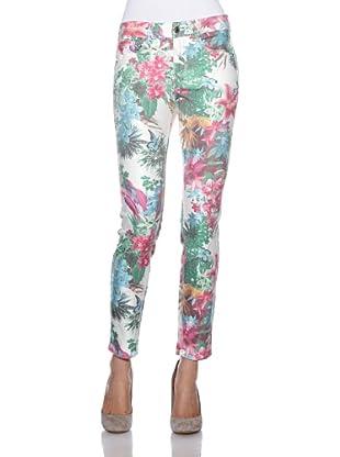 Rosner Jeans Anny Pipe (weiß/pink/grün)