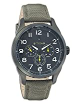 Titan Purple Analog Black Dial Men's Watch - 9479AF02