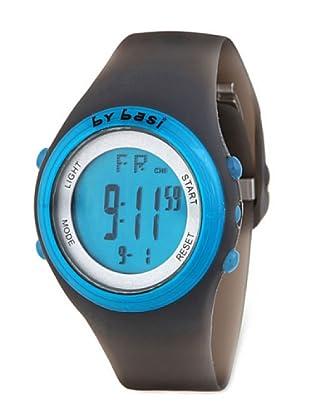 BY BASI A0981U01 - Reloj Unisex movi cuarzo correa policarbonato negro/azul