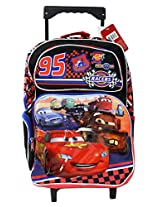 Disney 95 Cars Racers Springs 16 Inches Rolling Backpack