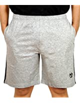 Scorpion Men's Cotton Shorts (SH-STY02-G0505M-1_Medium_Grey melange)