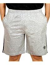 Scorpion Men's Cotton Shorts (SH-STY02-G0505XL-1_Grey melange_X-Large)
