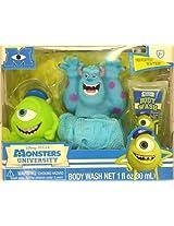 Disney Monsters University Tub Time Friends 3 Pcs Bath Gift Set - Includes 2 Bath Poufs & Body Wash