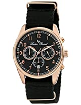Lucien Piccard Men's LP-10588N-RG-01 Moderna Analog Display Japanese Quartz Black Watch