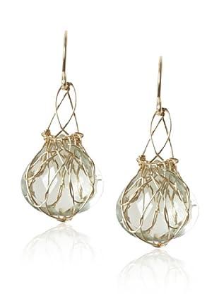 Misha Green Amethyst Small Basket Earrings