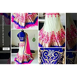 Traditional blue lehenga Indian Designer Party Ethinic Wear wedding girlish lancha