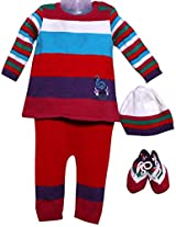 Amity Anchor Kids Warm Wear Set (AA14-15489_6-12 Months_Multi-Coloured)