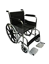 KosmoCare Dura Hard Cushion Regular Foldable Wheelchair with Padded Seat