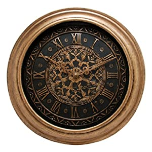 Kiera Grace Bedford Round Wall Clock, 12-Inch