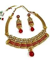 Divinique Jewelry pearl polki necklace set