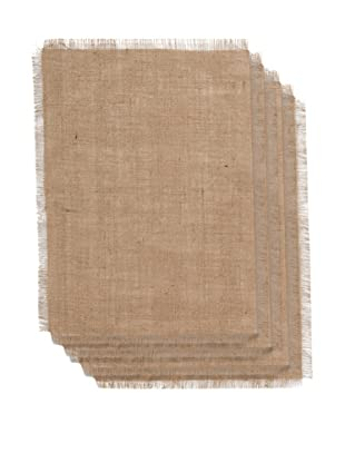 Couleur Nature Set of 4 Burlap Placemats, Natural