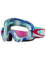 Oakley O-Frame MX Podium Check Goggles (White Frame/Clear Lens)