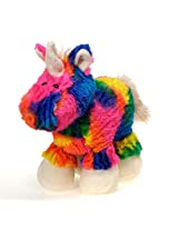 Rainbow Tie Dye Unicorn Plush Stuffed Animal Toy By Fiesta Toys 10.5""