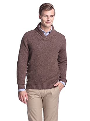 Cullen Men's Shawl Collar Pullover Sweater (Walnut)