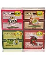 GTEE Green Tea Bags-Jasmine & Green Tea Bags - Ginseng & Hibiscus Tea Bags & Green Tea Bags - Regular(10 Tea Bags X 4 PACKS)
