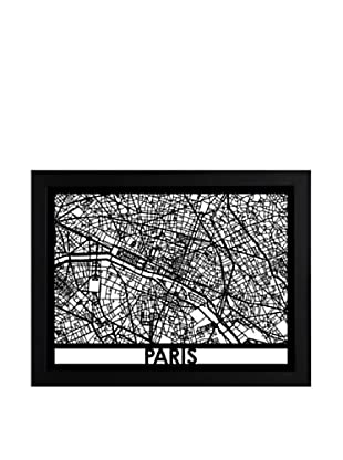 Cut Maps Paris Framed 3-D Street Map