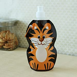 Mom Italy Kiddy Foldable Tiger Water Bottle