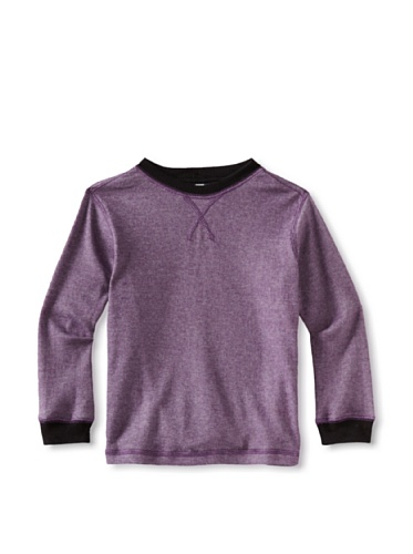 Colorfast Apparel Boy's Ribbed Thermal (Plum)