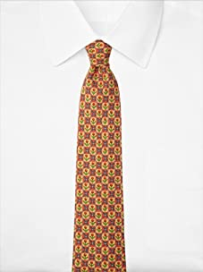 Hermès Men's Floral Tie, Yellow/Green/Red, One Size