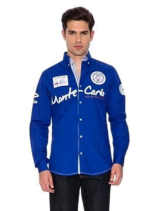 Geographical Norway Camisa Manga Larga Zebrasquare (Azul Royal)