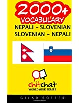 2000+ Nepali - Slovenian Slovenian - Nepali Vocabulary