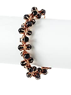 Tuleste Market Small Marbled Claw Bracelet, Rose Gold/Charcoal