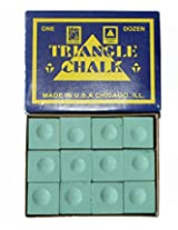 Billiedge Triangle Billiard Snooker Pool Chalk 12 Pcs Green