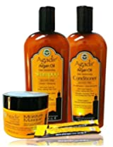 Agadir Argan Oil Daily Moisturizing 4 in 1 Comboset C Free Hair Treatment 0.25fl