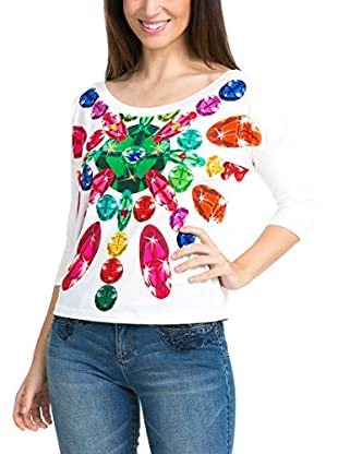 Desigual Camiseta Manga Larga Jewel