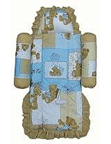 Nina Fixed Mattress Set - Teddy Blue