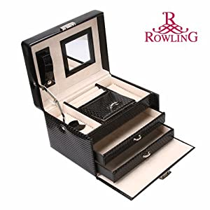 Rowling faux Leather organizer with case and lock