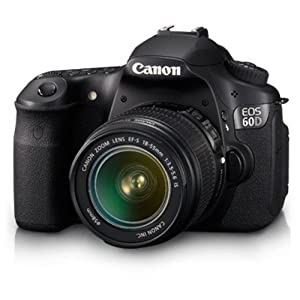 Canon EOS 60D 18.0MP Digital SLR Camera (Black) with EF-S 18-55 IS Kit Lens, 4GB Card