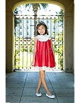 Magic Fairy Girls' Chiffon Dress [MF-284_Red_5-6 Years]