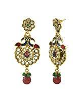 "AAKSHI ""Mayuri Diamond Studded"" Jhumka Dangle Earings"