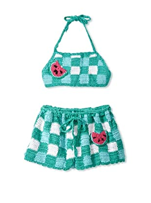 H. Maude Girl's Waltz Bikini Sunsuit (Watermelon)