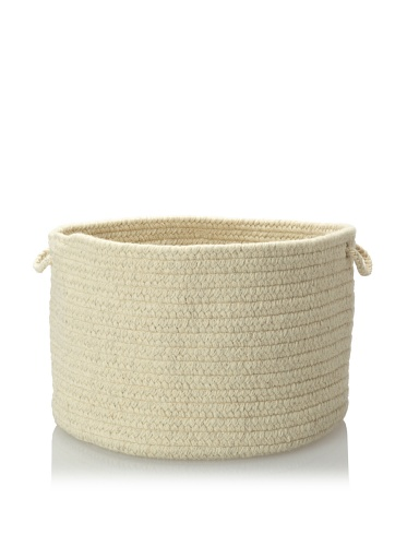 Colonial Mills Solid Storage Baskets (Ivory)