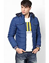 Solid Blue Bomber Jacket