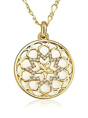 Saint Francis Crystals Collar  Dorado
