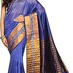 Multi Banarasi Plain / Solid Cotton Silk Saree With blouse piece