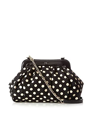 Kate Spade Women's Lizzie Lady Frames Satchel, Black Dot