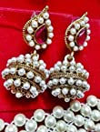 Rani royal pink pearl earrings