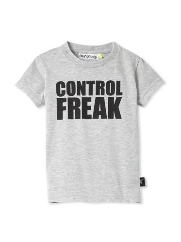 NUNUNU Kid's Control Freak Tee (Heather Grey)