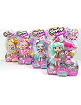 Shoppies Doll Set Of 4 Jessicake Peppa Mint 8 Exclusive Shopkins & Accessories