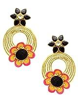 Flower Golden Earrings_ER926-124