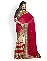 Janasya Georgette Saree(JND0182_Red)