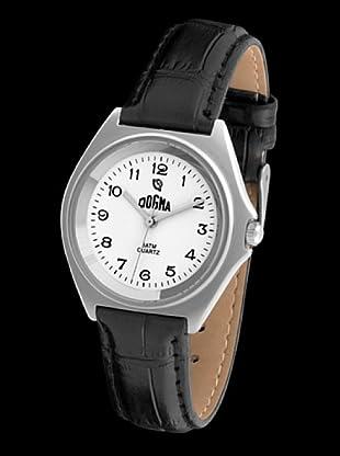 Dogma G1007 - Reloj de Caballero movimiento de quarzo con correa de piel negro