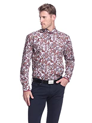 Bogosse Men's Giorgio Paisley Long Sleeve Sportshirt (Grey)