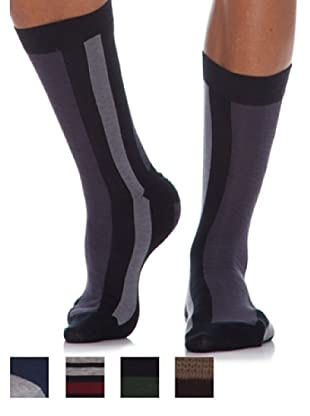 Springfield Calcetines Pack 5 Unid. Combo Listas gris