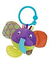 Winfun Round Timber the Elephant Hand Rattle, Multi Color