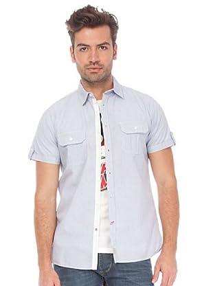 Springfield Camisa (Blanco / Azul Claro)